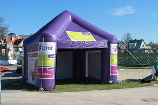 Ilmatäytteinen teltta EMT
