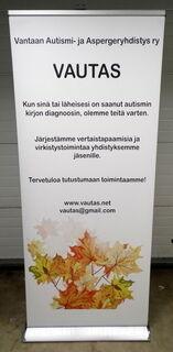 Roll-up Exclusive 850x2000 mm Vantaan Autismi- ja Aspergeyhdistys
