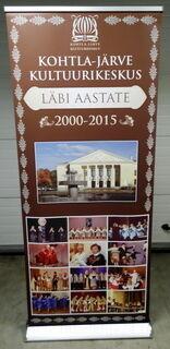 Roll-up Exclusive 850x2000 mm Kohtla -Järve Kultuurikeskus