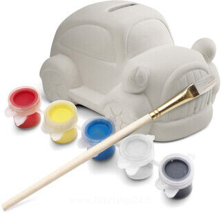 Plaster car piggy bank