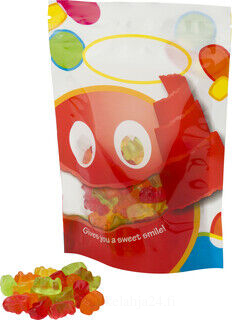 60g of sweets in a resealable bag.