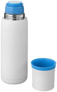 Flow vacuum isolating flask