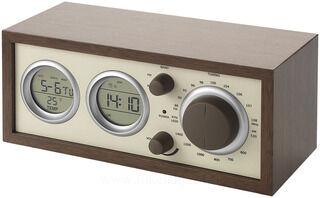 Classic radio with temperature