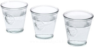 3 Authentic water glasses