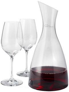 Prestige decanter with 2 wine glasses