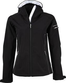 Ladies Hooded Fashion Softshell Jacket
