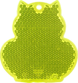 Reflector cat 57x59mm yellow