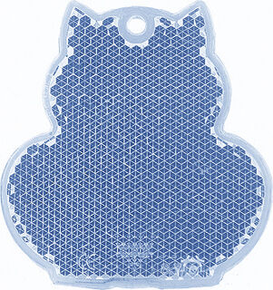 Reflector cat 57x59mm blue