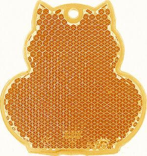 Reflector cat 57x59mm orange