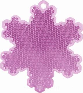 Reflector snowflake 58x66mm pink