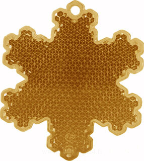 Reflector snowflake 58x66mm orange