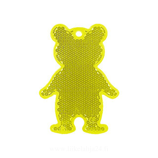 Reflector bear 51x70mm yellow