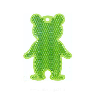 Reflector bear 51x70mm green