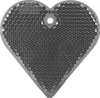 Reflector heart 57x57mm black