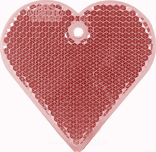 Reflector heart 57x57mm red